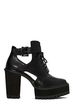 Shoe Cult Kickback Platform Boot   Shop Shoe Cult at Nasty Gal