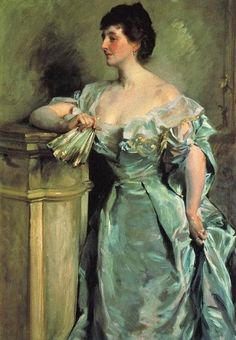 Beautiful Blues & Greens of John Singer Sargent 1856-1925 Lady Meysey Thompson
