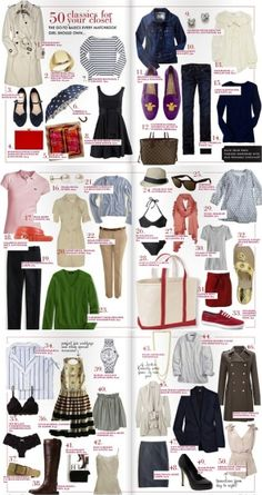 Basics every girl should have in her closet.