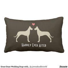 Boxer Wedding Dogs with Text Lumbar Pillow Pillow Mat, Lumbar Pillow, Throw Pillows, Dog Pillows, Golden Retriever Wedding, Wedding Dogs, Australian Shepherd Dogs, Wedding Pillows, Cute Sloth