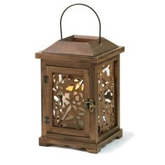 Fall Flora Wood Lantern now featured on Fab.