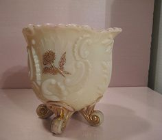 Louis XV Northwood Custard Glass Spooner. This item will be 25% OFF in the GVS Ruby Lane Sale Jan 12-13