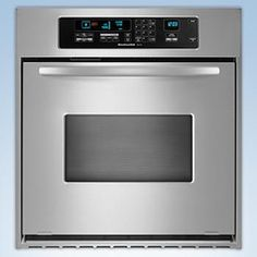 KitchenAid Single Electric Wall Oven with cu. Third Hidden Element True Convection Oven, Self-Clean, CleanBake, Maxi/Econo Thermal Broiler, Temperature Probe and Electronic Touch Controls: Stainless Steel Kitchenaid Architect Series, Small Appliances, Kitchen Appliances, Kitchens, Single Electric Oven, Single Wall Oven, Condo Kitchen, Ugly Kitchen, Kitchen Ideas
