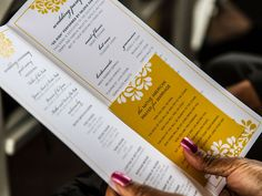 Include a meaningful blessing or prayer in your wedding program.