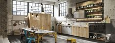 """Loft is the expression of the latest """"urban"""" trends; a modern kitchen design…"""