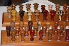 hand turned wood christmas ornaments - Google Search
