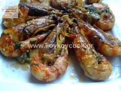 1303201313384 Greek Recipes, Fish Recipes, Healthy Recipes, Healthy Food, Squid Dishes, Vigan, Easter Crafts, Shrimp, Main Dishes