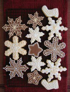 Pretty snowflake and stocking Christmas cookies.