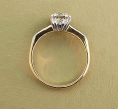 1940s Engagement Ring Vintage Gold and Diamond by SITFineJewelry