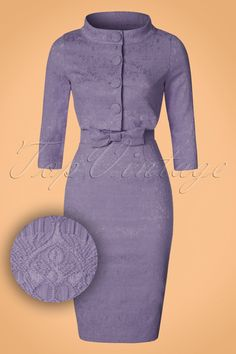 Maybelle Jacquard Twin Set in Amethyst Cute Dresses, Vintage Dresses, Beautiful Dresses, Short Dresses, Dresses For Work, Dresses With Sleeves, African Fashion Dresses, Fashion Outfits, Black Lace Gloves