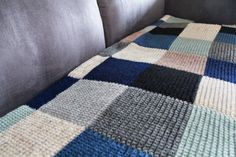 Color Block Blanket in Stormy Weather | Ohleander