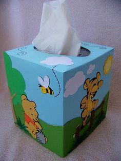 Pooh tissue box cover