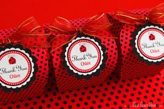 Favors at a Ladybug Party #ladybugparty #favors