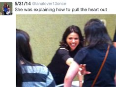 "Love this... showing how to ""RIP A HEART OUT ""!❤️❤ #evilregal"