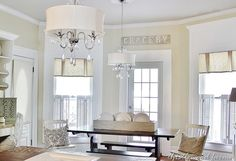 Love this kitchen.  Also love the paint color - Coconut Milk from Valspar.
