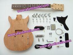 92.00$  Buy now - http://alikqv.worldwells.pw/go.php?t=32393560787 - Afanti Music / Mahogany Body / Maple Neck / Rosewood Fingerboard/ LP style DIY Guitar Kit(ALP-078K)
