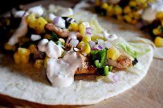 Grilled Chicken Tacos #chicken #tacos