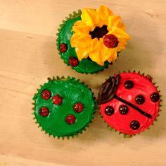 Awesome ladybug cupcake assortment