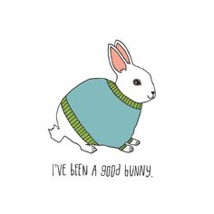 I've been a good bunny. Temporary tattoo designed by Lisa Congdon and available on Tattly.