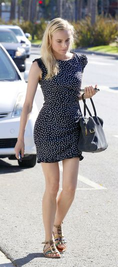 diane kruger looking cute in a summer dress