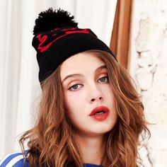 a78eb3294a8 Cute panda bobble hats for teenage girls black knit beanie hats with ball  on top