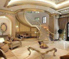 مدل خونه mansion interior, luxury interior, home interior design, interior Mansion Interior, Luxury Homes Interior, Luxury Home Decor, Home Interior Design, Interior Architecture, Interior Stairs, Design Living Room, Luxury Homes Dream Houses, Dream Homes