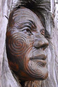 detail - Ranginui (Sky Father) from Maori tradition carved by Ken Blum and Woody Woodward. Abel Tasman National Park sculpture garden, New Zealand photo credit: billyrayhorsefly Atelier D Art, Art Sculpture, Metal Sculptures, Abstract Sculpture, Bronze Sculpture, Maori Art, Tree Carving, Wooden Art, Land Art