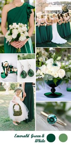 emerald and white spring and summer wedding ideas
