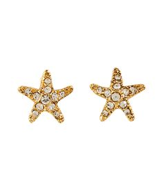 Gold-Toned Starfish Stud Earrings by Juicy Couture