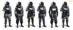 Present+Future — rocketumbl: Killzone Shadow Fall Concept Art Armor Concept, Concept Art, Killzone Shadow Fall, Character Concept, Character Design, Combat Armor, Armor Clothing, Sci Fi Armor, Suit Of Armor