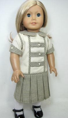 1900 to 1920 style American girl doll clothes for Samantha or Rebecca. $36.99, via Etsy.