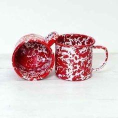 12 Oz Enamelware Mug, Marbled - Kolorful Kitchen