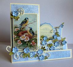 Springtime side step card