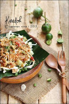 Karedok. Sunda's vegetable salad. From West Java. Indonesia