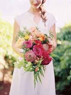 pink waratah bouquet