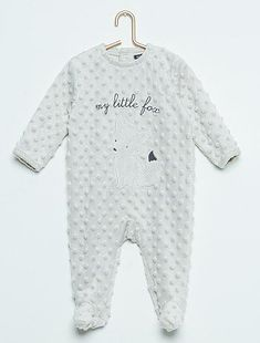 Pyjama  renard  pois reliefés gris beige Bébé fille - Kiabi via   deuxpardeuxKIDS Kiabi 2cbb93d4182