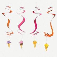 Ice cream hanging swirls