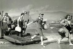 Nurses arriving on the beaches of Normandy in 1944
