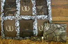 Image detail for -Country Western Horse Shoe Rag Quilt Handbag Purse Tote 3 Piece Set