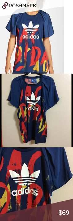 5f9a2cc5cc6 Adidas Originals Paris Print top Size small. In good used condition. One  minor scrape