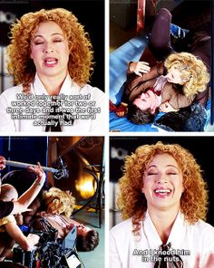[gifset] Alex Kingston on her first intimate scene with Matt Smith. #DoctorWho