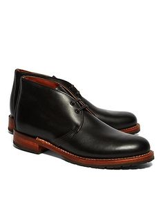 Black featherstone Red Wing shoes.