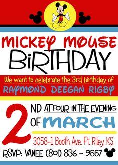 Disney's Mickey Mouse Birthday invite