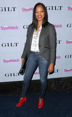 All Fashion, Work Fashion, World Of Fashion, Street Fashion, Garcelle Beauvais, Caribbean Queen, Red Booties, Black Girls Rock, Most Beautiful Women