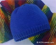 This is the first knitting project I did (after a scarf), and still my go-to for a quick beanie. Easy to follow pattern, with a refreshing lack of knitters code.   http://www.aokcorral.com/projects/how2sept2004.htm