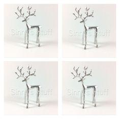 pottery barn metal large twig reindeer figure bronze rustic stag nib christmas christmas decor. Black Bedroom Furniture Sets. Home Design Ideas