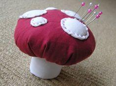 How to make a toadstool pincushion…