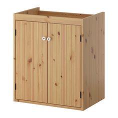 IKEA - SILVERÅN, Mobile per lavabo con 2 ante, marrone chiaro, , Le venature e i nodi del pino massiccio donano a ogni articolo caratteristiche uniche.Una buona soluzione se hai poco spazio.