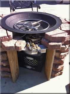 Clean burning outdoor firepits. Propane burner authority and expert in DIY.