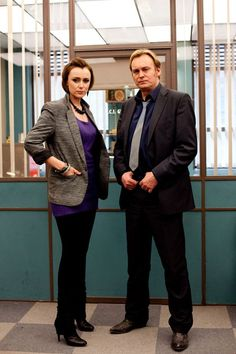 KEELEY HAWES as Alex Drake, PHILIP GLENISTER as DCI Gene Hunt